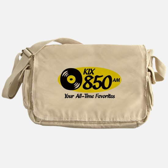 Cute Radio station Messenger Bag