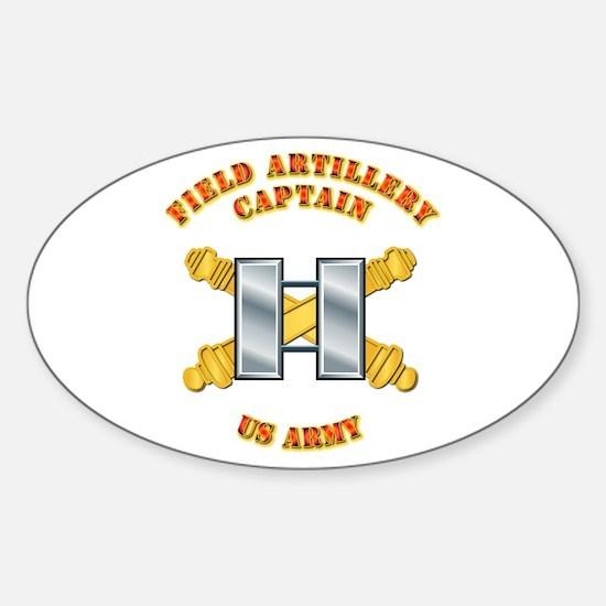 Artillery - Officer - Captain Sticker (Oval)