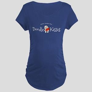 Doodle Kisses Maternity Dark T-Shirt