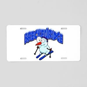 Breckenridge Snowman Aluminum License Plate