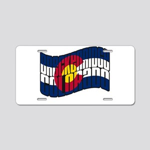 Breckenridge Colorado Flag Aluminum License Plate