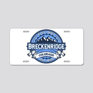 Breckenridge Blue Aluminum License Plate