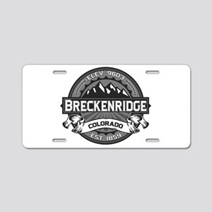 Breckenridge Grey Aluminum License Plate