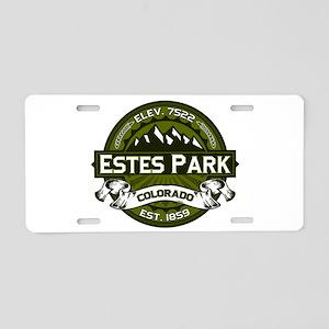 Estes Park Olive Aluminum License Plate
