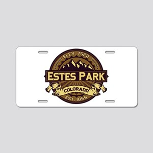 Estes Park Sepia Aluminum License Plate