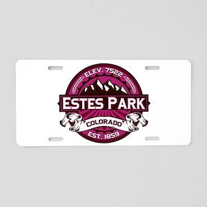 Estes Park Raspberry Aluminum License Plate