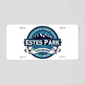Estes Park Ice Aluminum License Plate