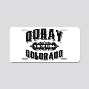 Ouray Since 1884 Black Aluminum License Plate