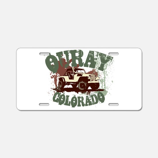 Ouray Colorado 4WD Aluminum License Plate