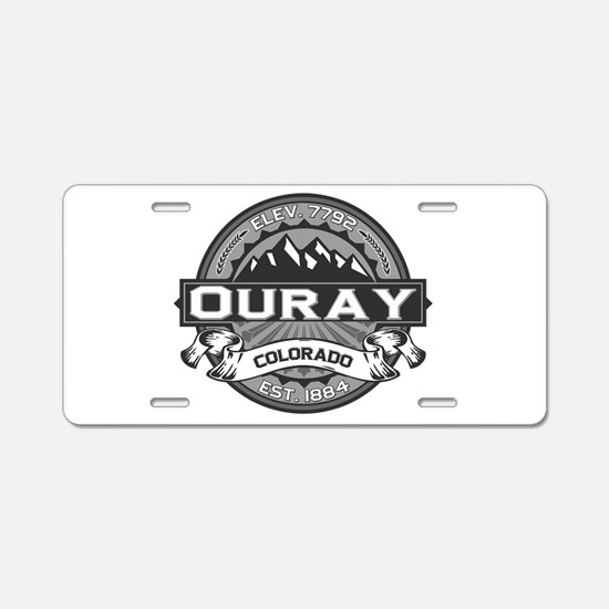 Ouray Grey Aluminum License Plate