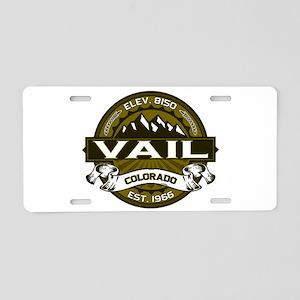 Vail Olive Aluminum License Plate