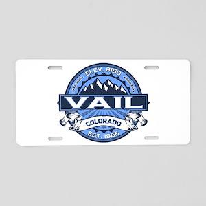 Vail Blue Aluminum License Plate