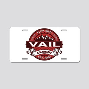 Vail Red Aluminum License Plate