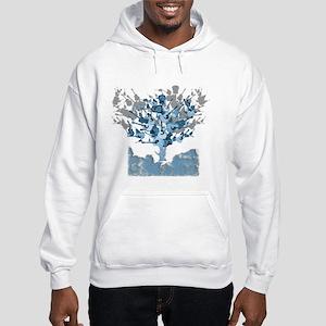 Acoustic Guitar Tree Hooded Sweatshirt