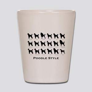 Poodle Styles: Black Shot Glass