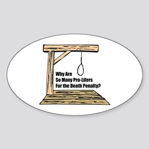 Death Penalty Oval Sticker