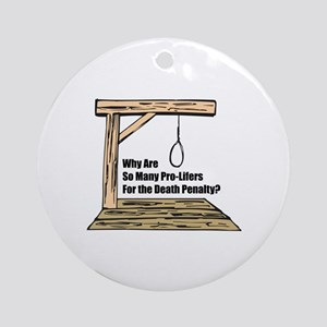 Death Penalty Ornament (Round)