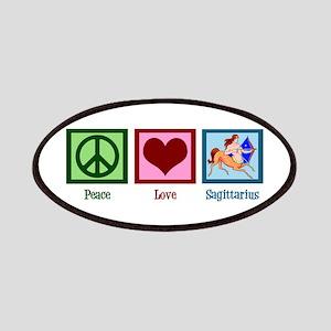 Peace Love Sagittarius Patches