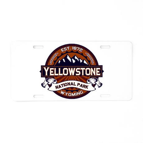 Yellowstone Vibrant Aluminum License Plate