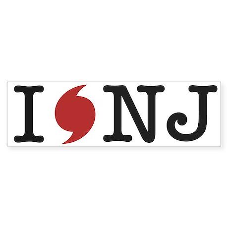 Hurricane Sandy New Jersey Sticker (Bumper)