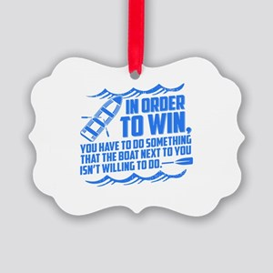 Rowing Saying Picture Ornament