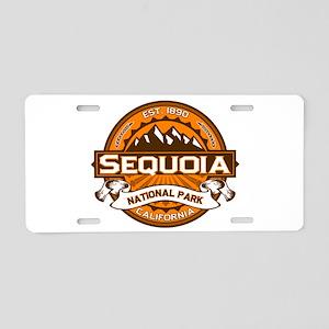 Sequoia Pumpkin Aluminum License Plate