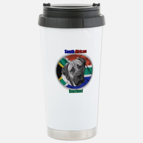 South African Flag Stainless Steel Travel Mug