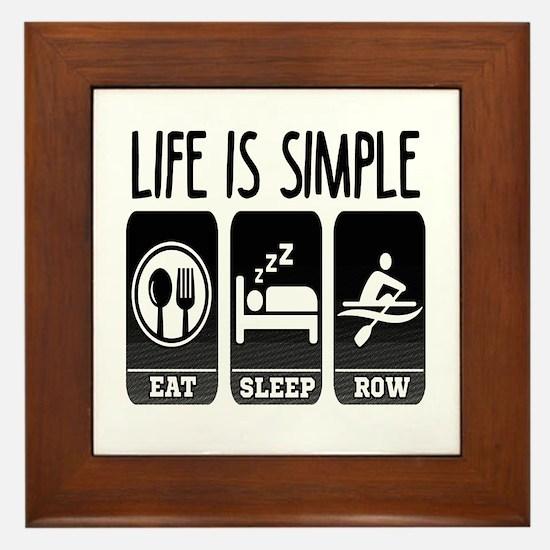 Life Is Simple Eat Sleep Row Framed Tile
