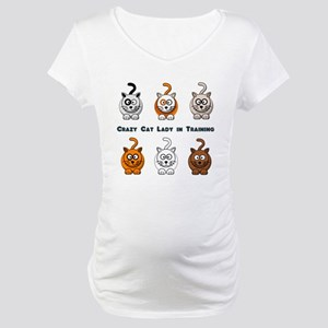 Crazy Cat Lady In Training Maternity T-Shirt