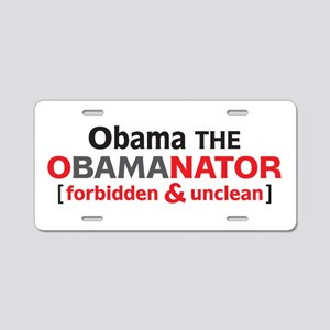 Obama Aluminum License Plate