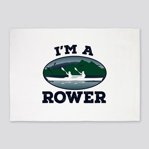 I'm A Rower 5'x7'Area Rug