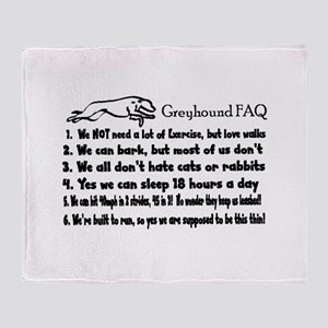 Greyhound FAQ Throw Blanket