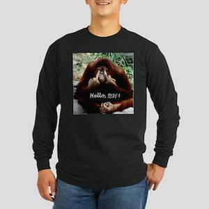 Chinese Funny Ape Long Sleeve Dark T-Shirt