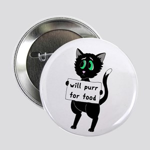 "Will Purr For Food 2.25"" Button"