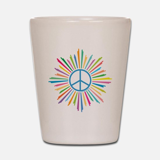 Peace Symbol Star Shot Glass