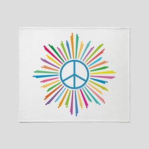 Peace Symbol Star Throw Blanket