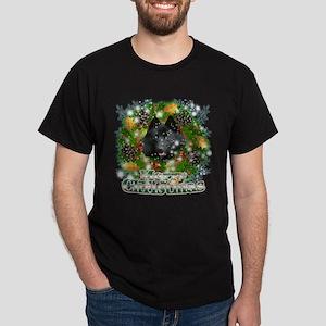 Merry Christmas Schipperke Dark T-Shirt