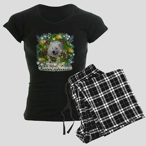 Merry Christmas Samoyed Women's Dark Pajamas