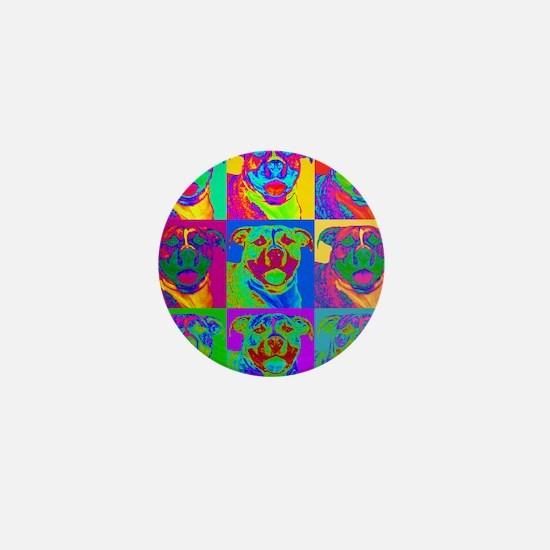 Op Art Pitbull Mini Button