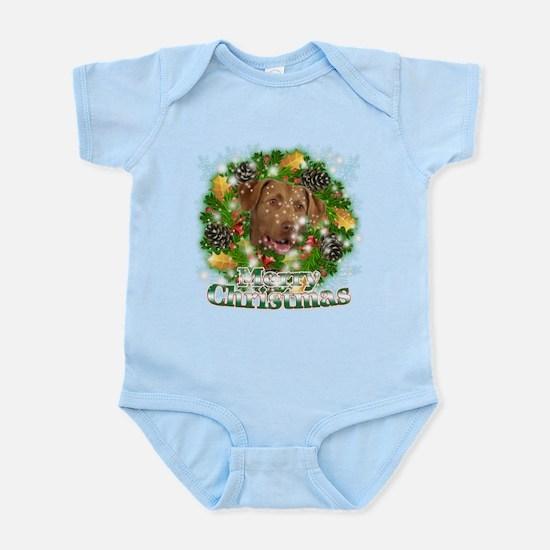 Merry Christmas Chesapeake Ba Infant Bodysuit