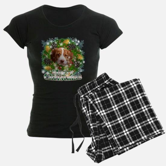 Merry Christmas Brittany Span Pajamas