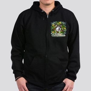 Merry Christmas Alaskan Malam Zip Hoodie (dark)