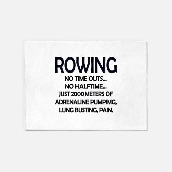 Rowing - 2000 Meters 5'x7'Area Rug