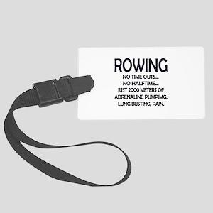 Rowing - 2000 Meters Large Luggage Tag
