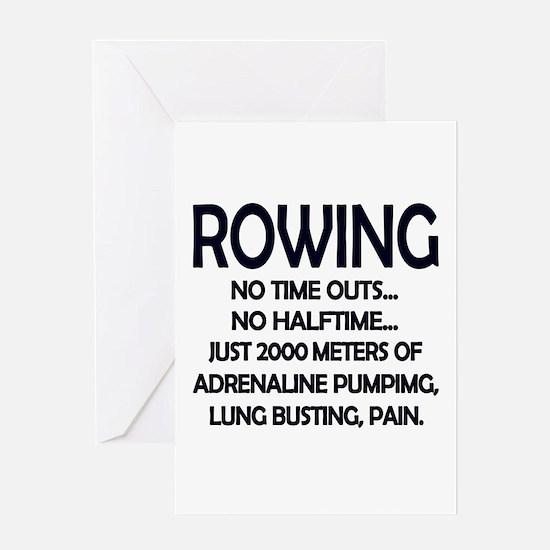 Rowing - 2000 Meters Greeting Cards