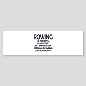 Rowing - 2000 Meters Bumper Sticker