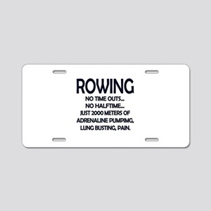 Rowing - 2000 Meters Aluminum License Plate