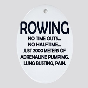 Rowing - 2000 Meters Oval Ornament