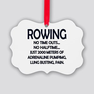 Rowing - 2000 Meters Picture Ornament