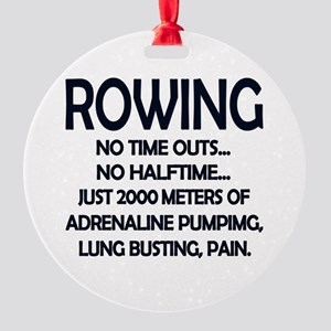 Rowing - 2000 Meters Round Ornament